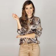 camisa de cetim estampada 1