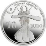 Moneda colección, 10€, óleo Busto de mujer retrospectivo