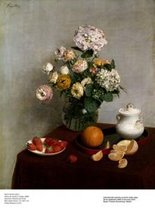 4. Henri Fantin-Latour. Flores de verano y Frutas, 1866. Toledo Museum or Art