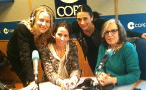 María León, Diana Mera, Pilar Cisneros y Lola Pérez Collado (de izquierda a derecha)