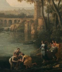 4. Moisés salvado de las aguas, Lorena-detalle-Museo del Prado