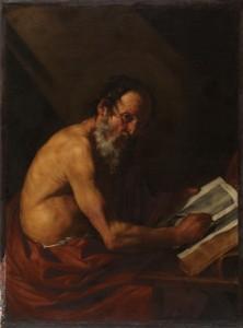 San Jerónimo atribuido a Ribera- Antes restauración Prado