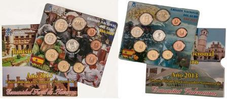 Colección de Monedas 2013 fnmt Dedicadas a Navarra y Valencia