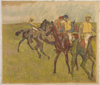 Edgar Degas. Antes de la carrera, ca.1895