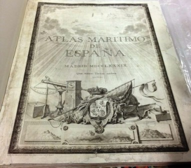 Atlas de Tofiño. restaurado 2013. Museo Cerralbo