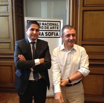 Manuel Borja-Vilel, Direrector del Reina Sofía y Michaux Miranda, Director Derente