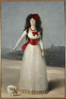 Maria-del-Pilar-Teresa-Cayetana-XIII-Duquesa-de-Alba-Fracisco-de-Goya