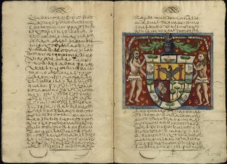 Escudo. Exposición Primus circumdedisti me. La carta de Juan Sebastián Elcano. 1522 Archivo General de Indias