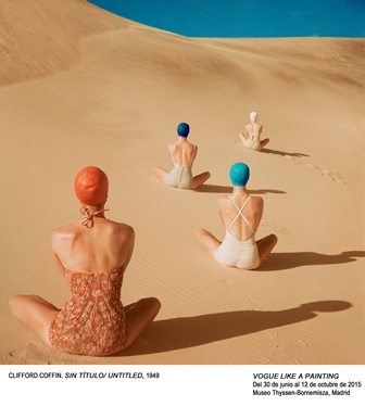 Back-views of four seated models in swimsuits and bathing caps