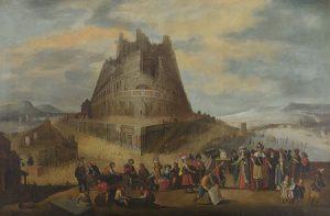 Lote 715: Escuela Flamenca del siglo XVII. La construcción de la Torre de Babel. Óleo sobre lienzo, 154,5 x 232 cm. Precio de salida: 20.000 euros