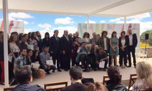 Entrega de premios Ignacio Galán y Fernández Mañueco Festival Luz y Vaguardia,Salamanca