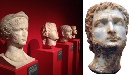 2 Retratos imperiales. Cabeza de Galieno (siglo III)