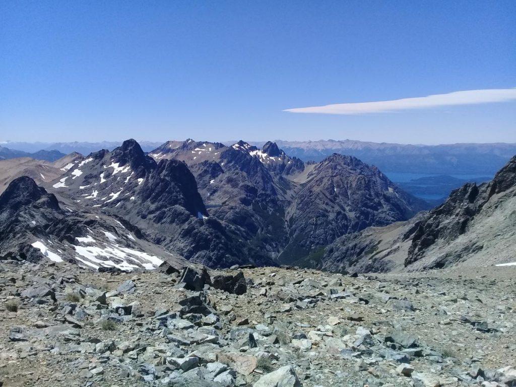 Vista Laguna Negra desde cerro Navidad