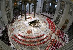 misa cardenales 2 Cónclave Marzo 2013, Misa Pro eligendo Pontifice, Homilía cardenal Sodano