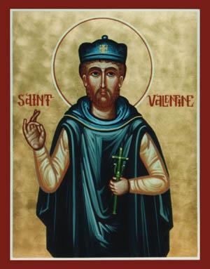 Representación de San Valentín