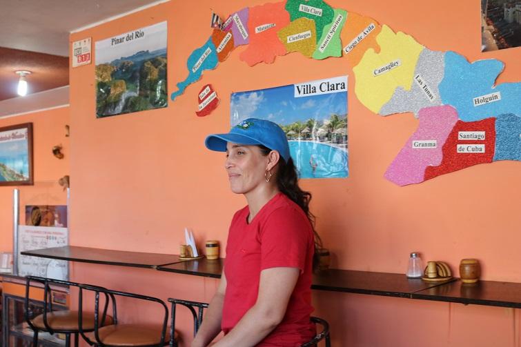 La Flaca en su restaurante / Foto: Cortesía del autor