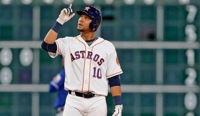 El cubano Yulieski Gurriel, de los Astros de Houston, está teniendo en 2018 su mejor temporada en Grandes Ligas.