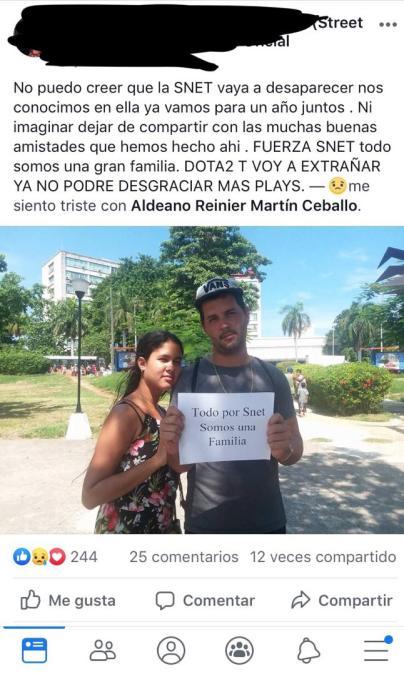 En redes sociales tras protesta contra cierre de SNet/ Captura de pantalla.