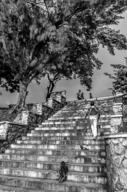 William Riera. Las escalinatas de Santiago (Calle 4).