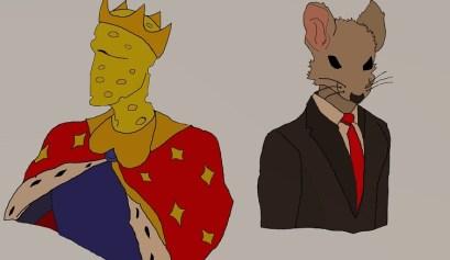El Presidente y el Rey del Queso / Ilustración: El Estornudo