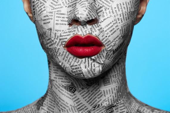Newspaper on beauty Face