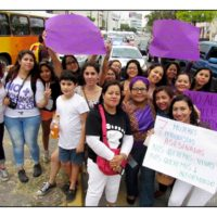 Mujeres periodistas en la marcha #NosQueremosVivas en Tuxtla. Foto: Osiris Aquino.