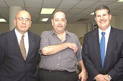 Raúl García Prieto, Héctor Cristiani y Enrique Rais, procesados por el caso BFA. Al final, todos salieron libres.