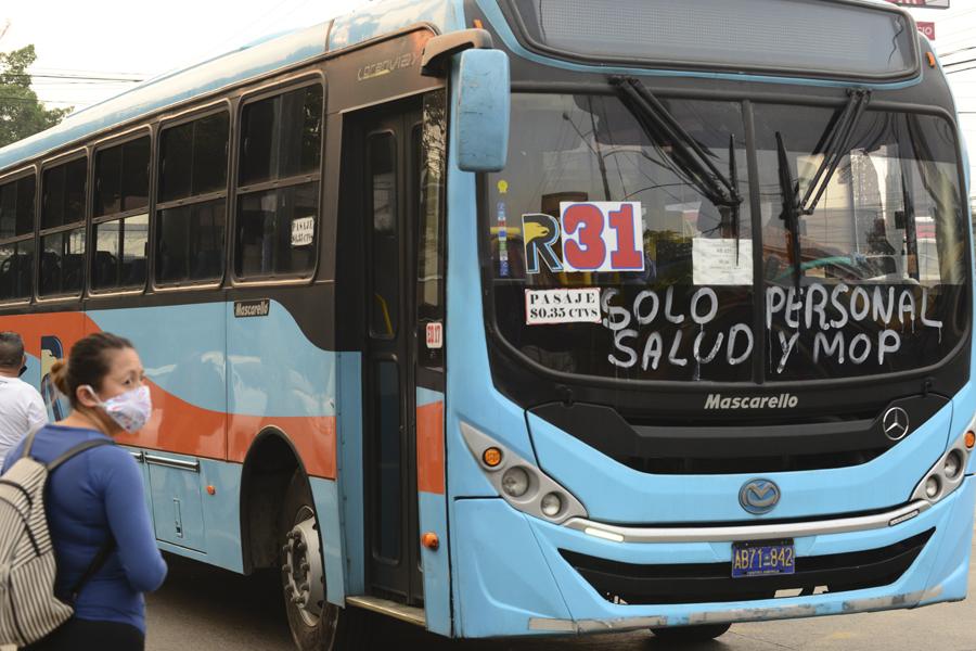 Transporte público iniciará servicio el 7 de julio de forma gradual