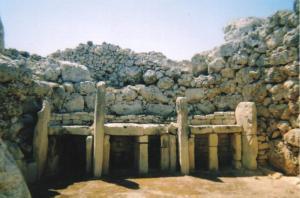 Templos Ggantija em Gozo, Malta.