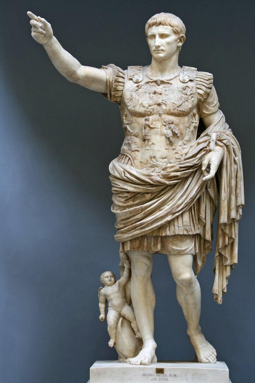 Estátua de Augusto (20-17 a. C.), Prima Porta, 1863.