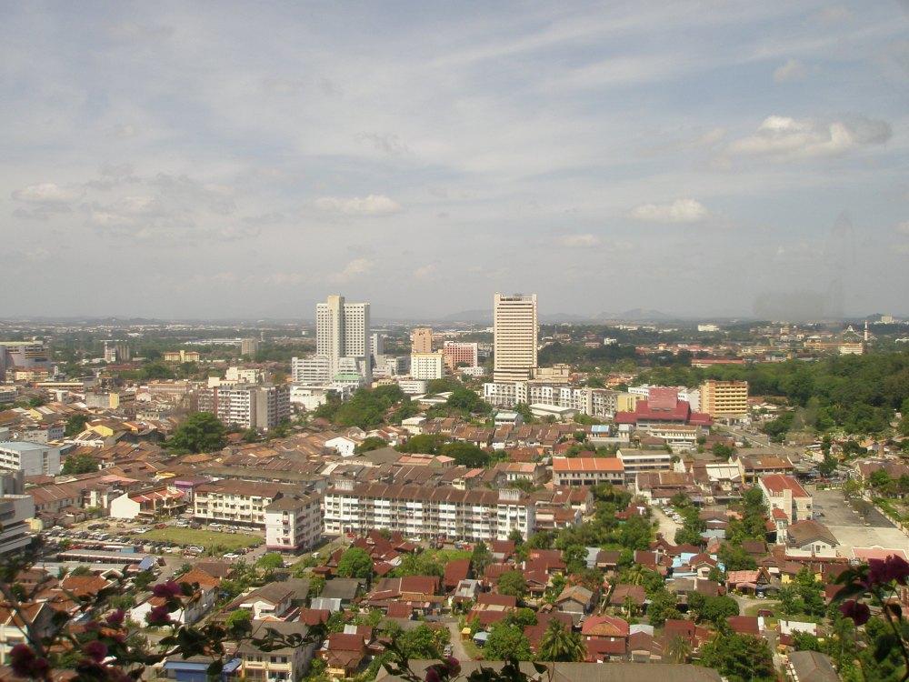 Vista da cidade de Malacca em Malaysia / Wikimedia Commons