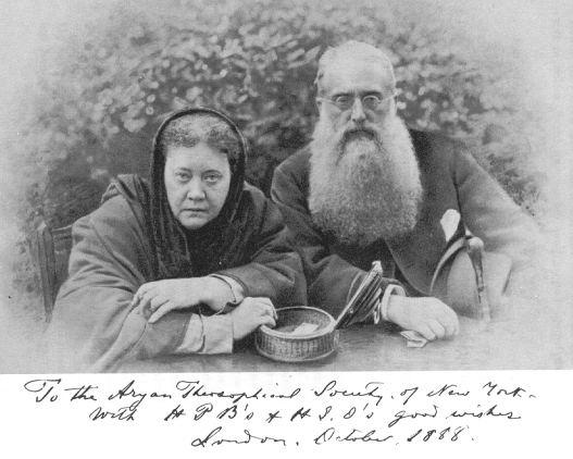 Blavatsky e Olcott / Wikipedia