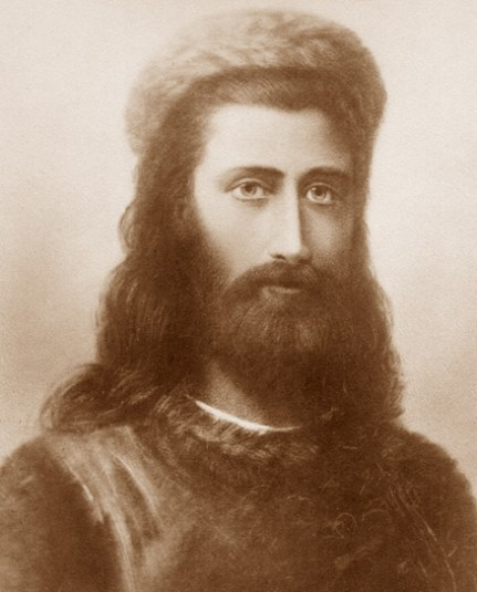 Retrato do Mestre Koot Hoomi por Hermann Schmiechen, 1884 / Vikipeedia