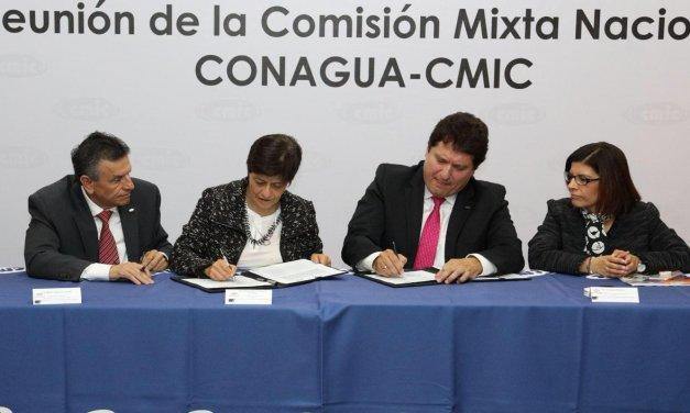 Conagua y CMIC firman acuerdos