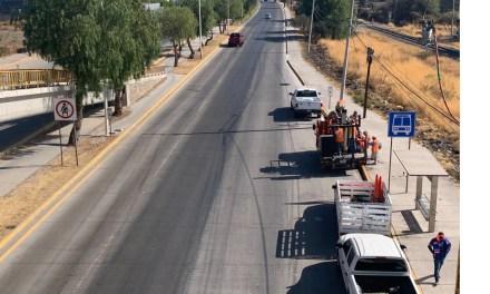 Trabajos de conservación en la carretera León – San Francisco del Rincón en Guanajuato