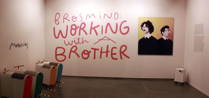 Exposición Huesca Brosmind: Working with a Brother. Comisaria Sara Guérin