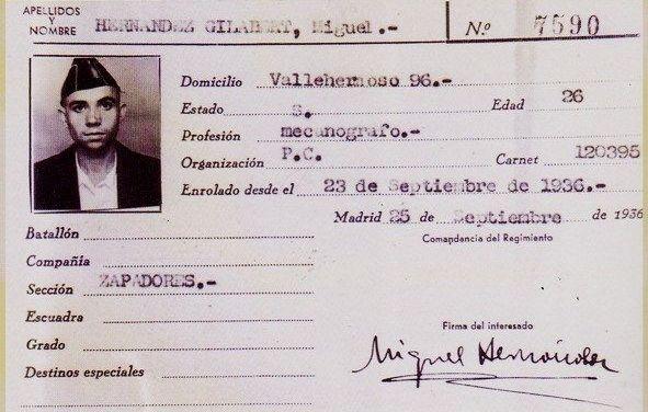 Miguel Hernández: Cuando el viento del pueblo te lleva a las letras y a las armas.