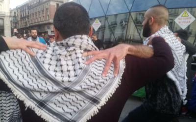 Existimos porque resistimos: Palestinos en Madrid reivindican el Día de La Tierra.