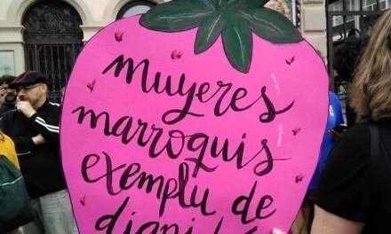 Xixón solidaridad y apoyo a las trabajadoras de las fresas de Huelva.