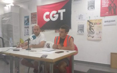 Rueda de Prensa del comité de empresa de los trabajadores y trabajadoras de Amazon.