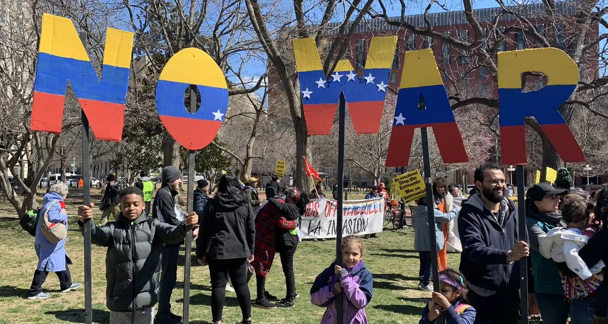 Hands off Venezuela: Solidaridad en las calles de Washington