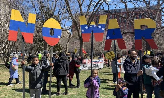 Hands off Venezuela: Solidaridad en las calles de Washington