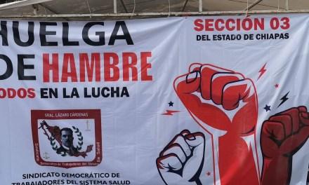 ¡Solución urgente a la huelga de hambre de más de un mes de las trabajadoras de la salud en Chiapas!