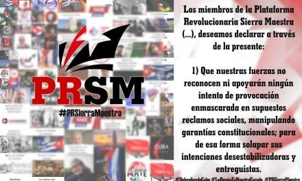 Declaración de la Plataforma Revolucionaria Sierra Maestra. 14 de octubre de 2021