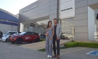 Aline Riscado e Felipe Roque visitam a Gran Brasil