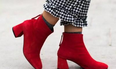 A bota vermelha invade a cena fashion