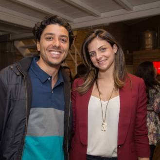 Gabriel Campaner, Diretor da gCampaner, e Stephanie Landim (blog Landog)