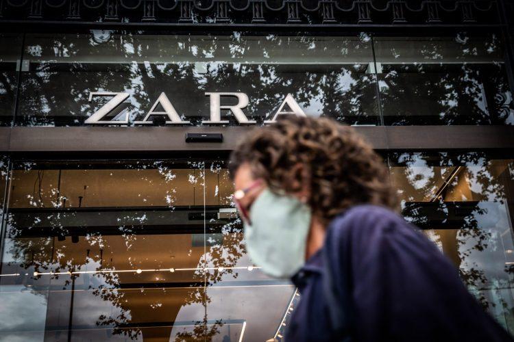 Zara store in Catalonia Square in Barcelona