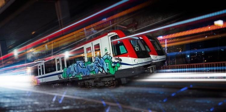 Graffiti metro de Santo Domingo