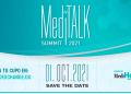 Flyer con datos de evento MediTalk Summit 2021